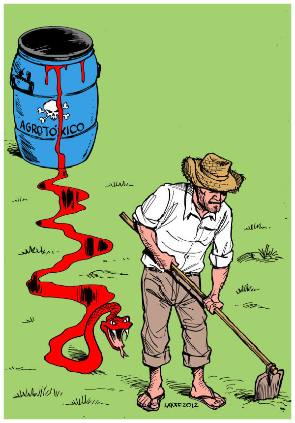 agrotoxicos carlos latuff cartoon