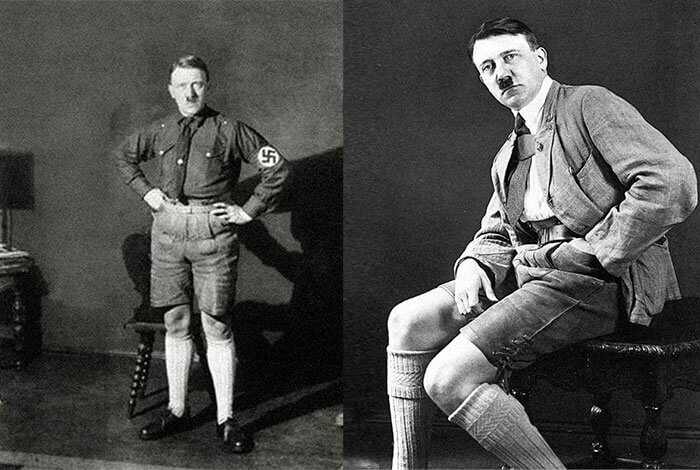anti-nazi-style hitler in shorts funny