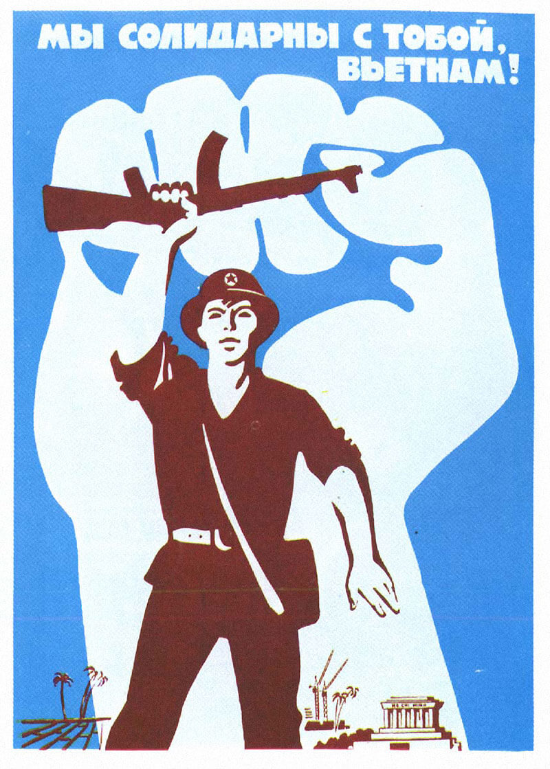 vietnam war solidarity poster