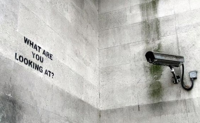 banksy cctv what are you looking at art