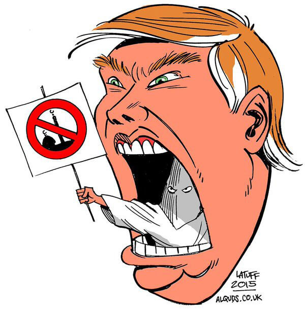 carlos latuff anti trump cartoon funny