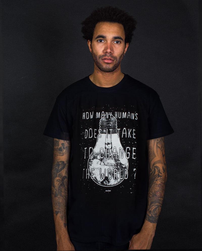 change the world actvist t-shirt millennial brand
