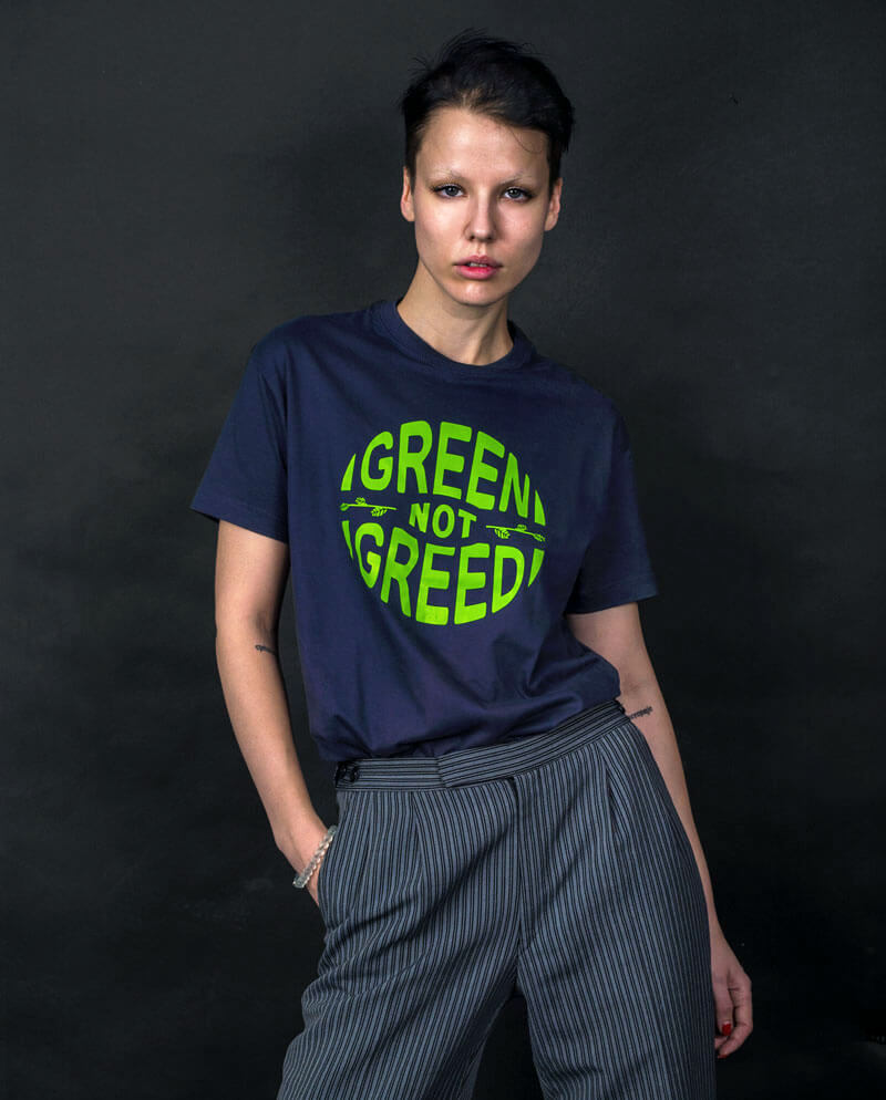 green not greed t-shirt environmentalist t-shirt