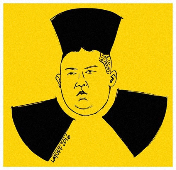 north korea nuclear threat political artoon