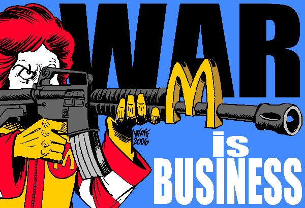 mcwar is business carlos latuff cartoon