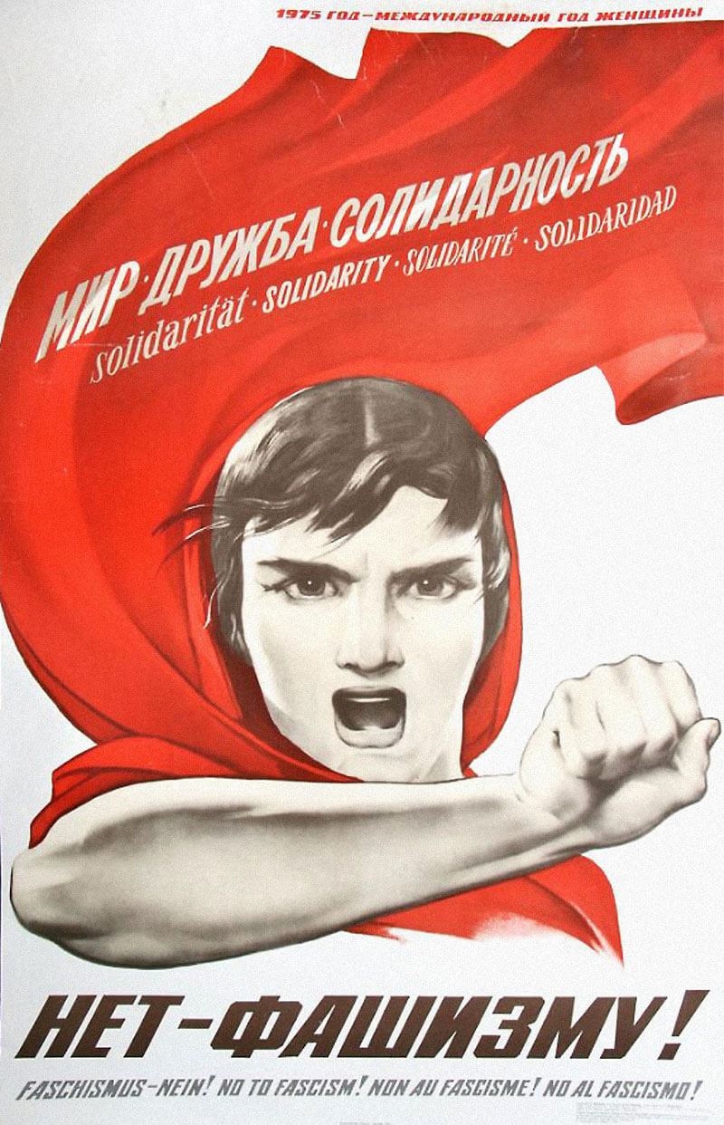 no to nazis soviet political poster art