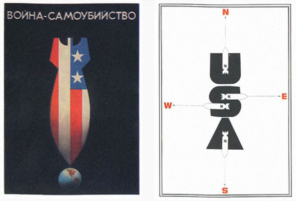 soviet anti cold war propaganda posters