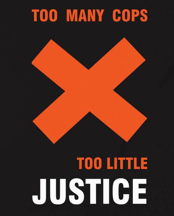 anti cop t-shirt black power justice