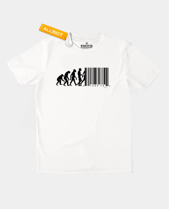 74a51578 Barcode T-shirt - March of Progress Funny Evolution Shirts | ALLRIOT