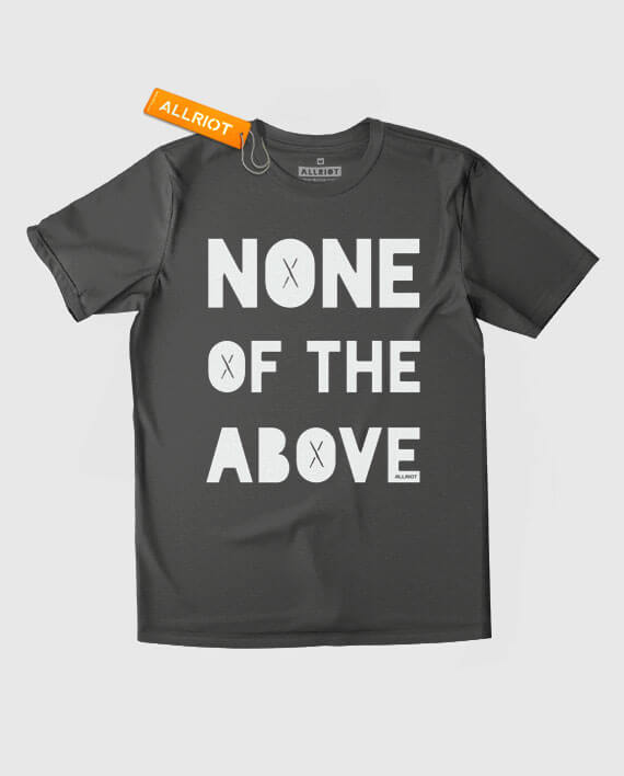 none of the above t-shirt charcoal