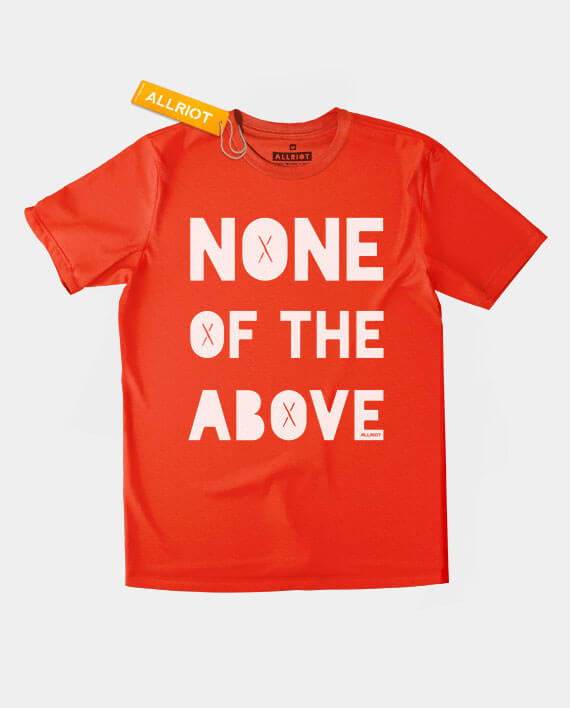 none of the above t-shirt red