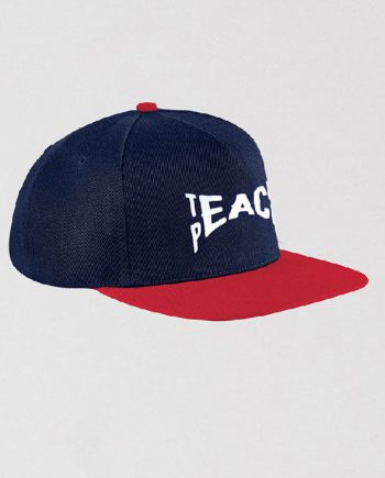 teach peace snapback headwear