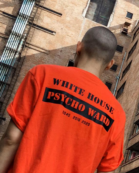white house psycho ward t-shirt