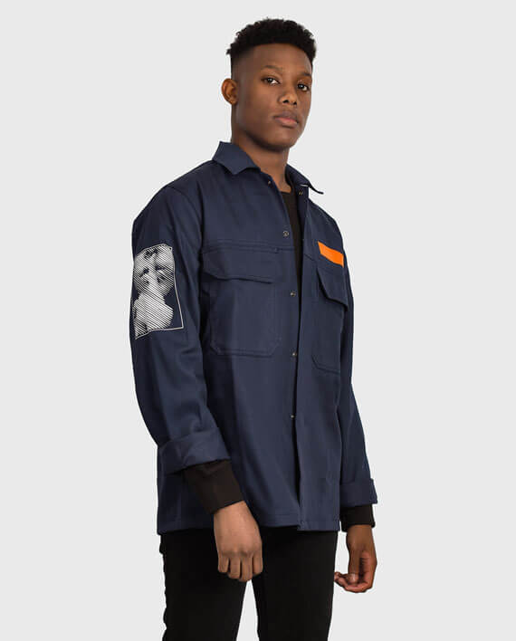 workwear jacket navy political streetwear uk
