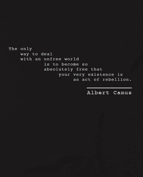 albert camus tshirt rebel quote