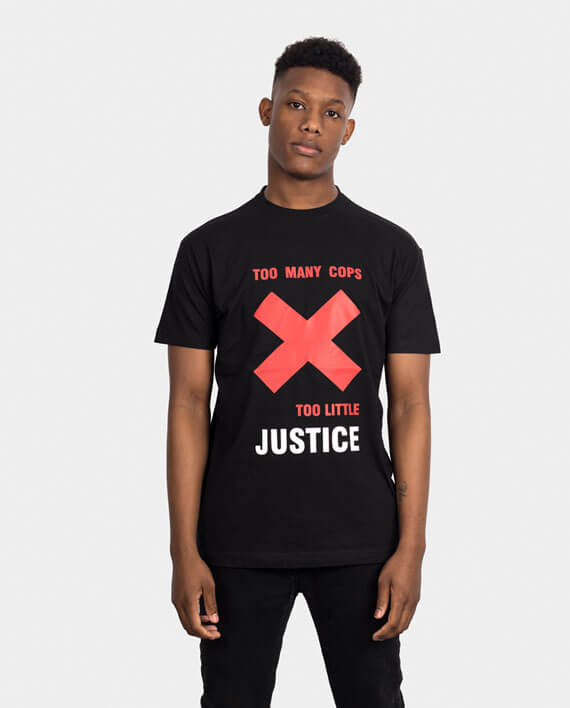 cops justice police brutality t-shirt