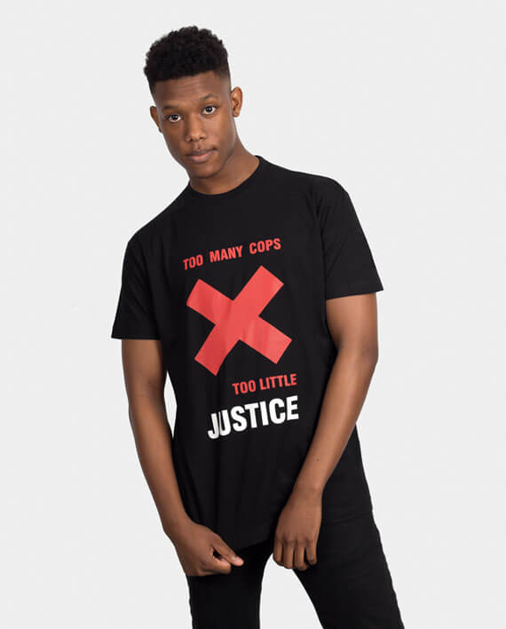 cops justice t-shirt black lives matter