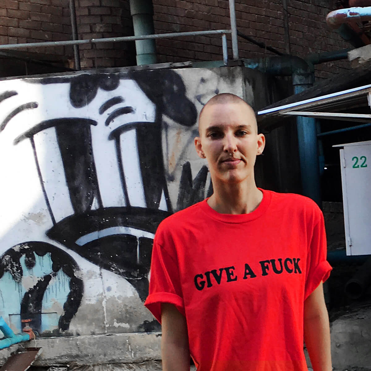 give a fuck t-shirt