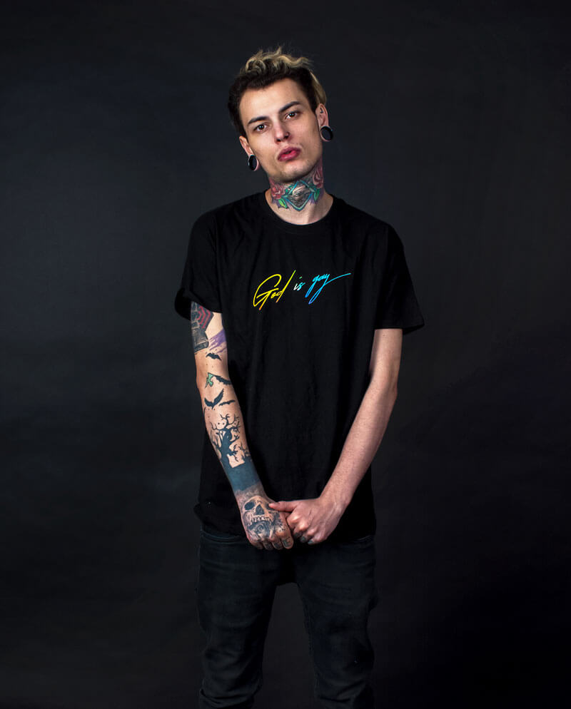 god is gay t-shirt lgbt pride