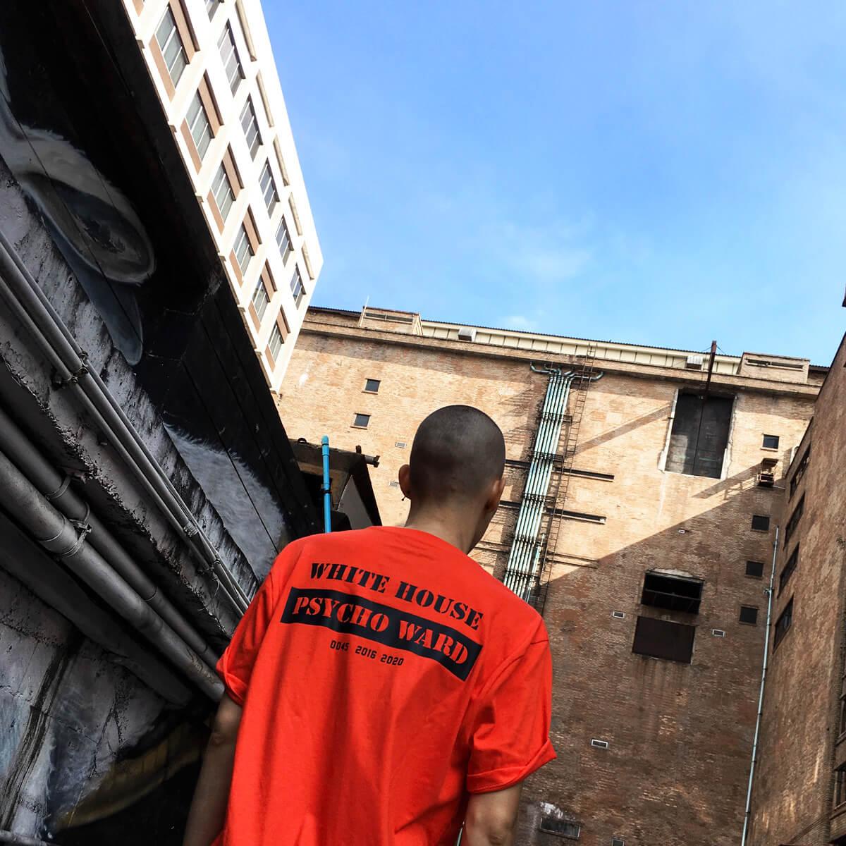 white house psycho ward prisoner t-shirt
