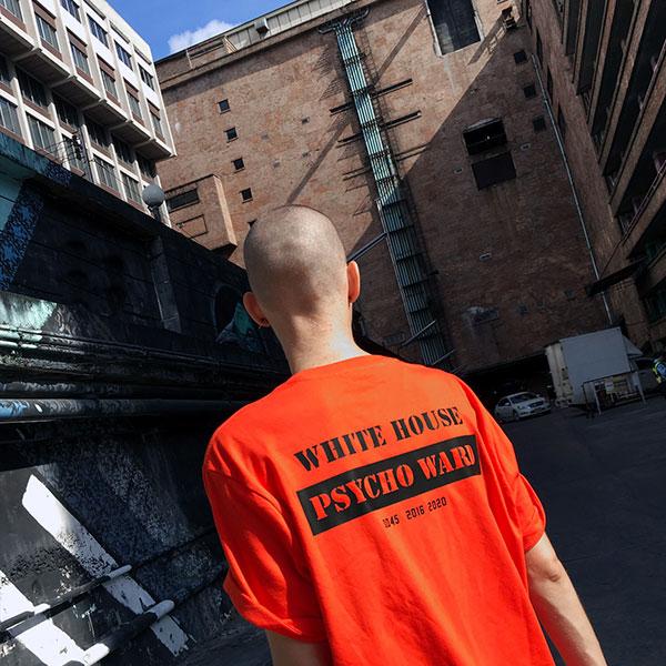 prisoner uniform t-shirt white house anti trump