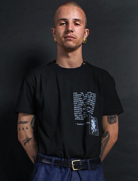 rudolf rocker t-shirt anarchy black logan