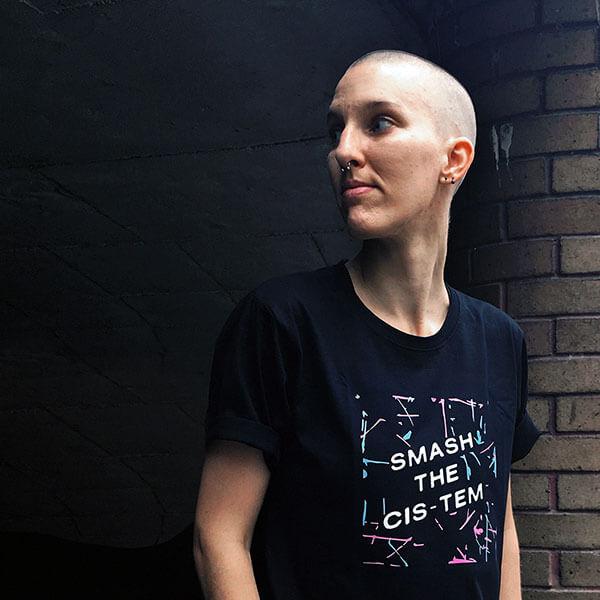 smash the cistem t-shirt gender neutral