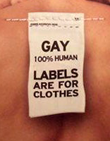 Gay Human Labels are for Clothes