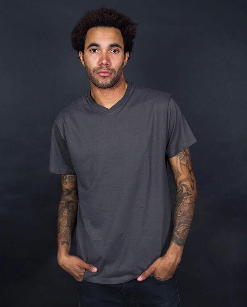 Multipack plain v-neck T-shirt