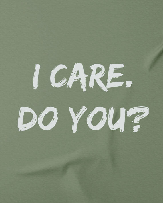 i care do you charity t-shirt children migrants