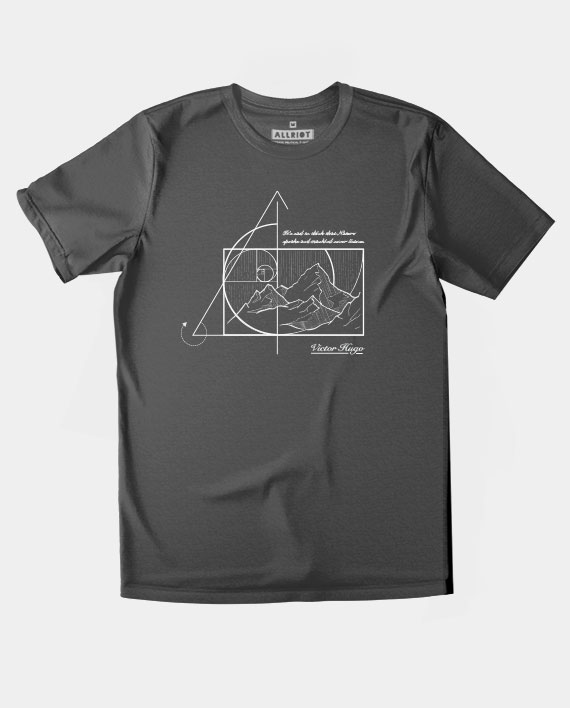 03 victor hugo quote t-shirt environment charcoal