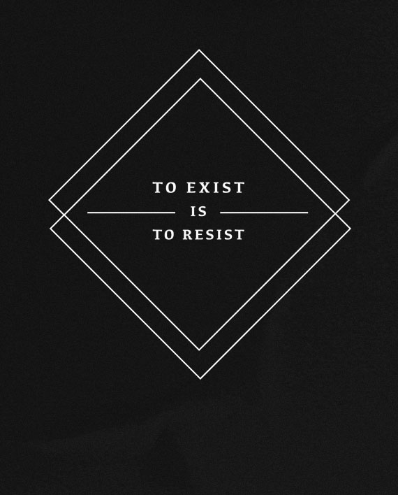 10 to exist is to resist t-shirt rebel