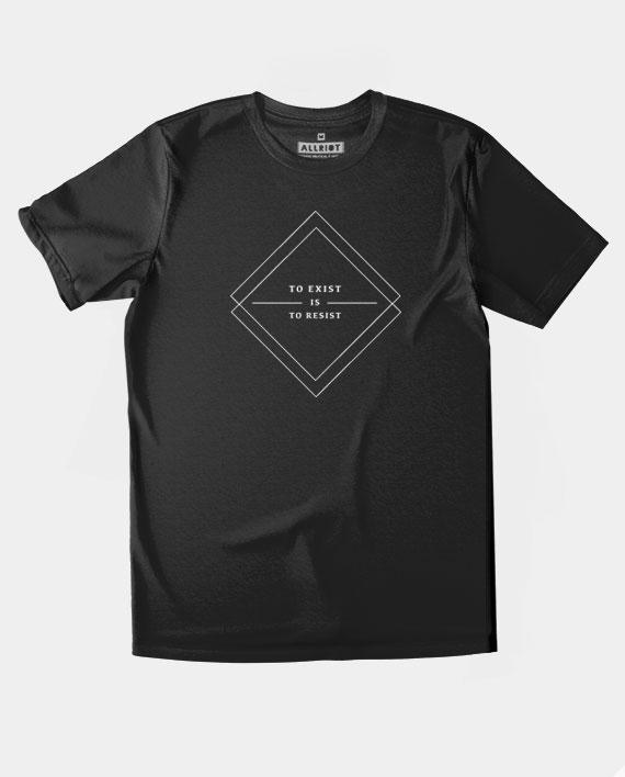 10 to resist is to exist teeshirt minimalist