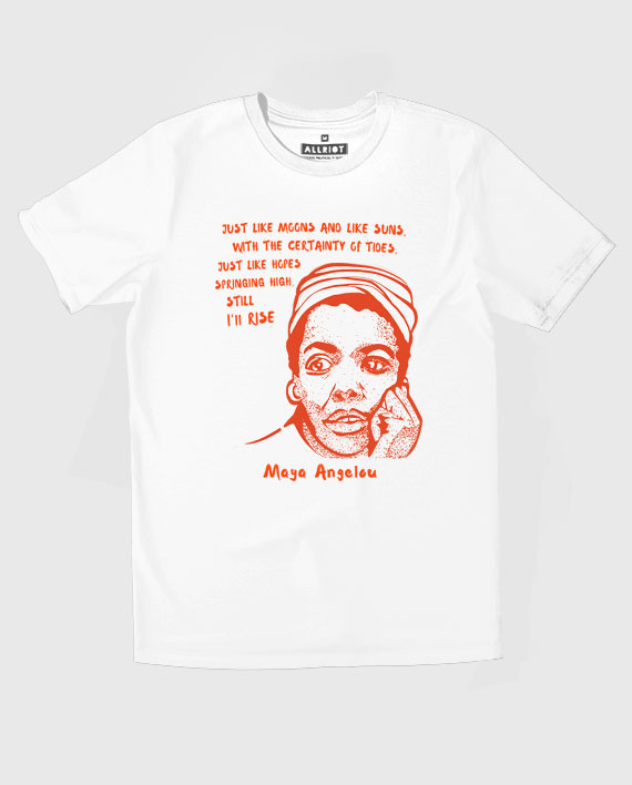 26 maya angelou tee shirt white