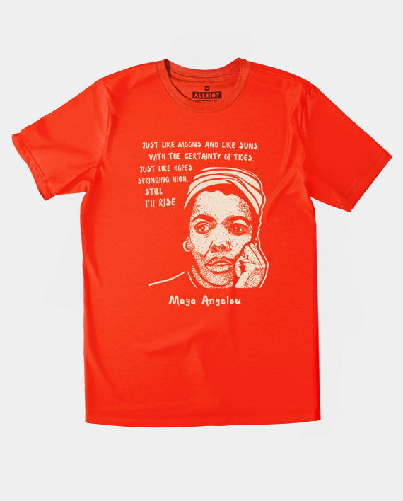 26 maya angelou tee top still i rise red