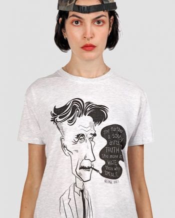 george orwell tee shirt quote illustration