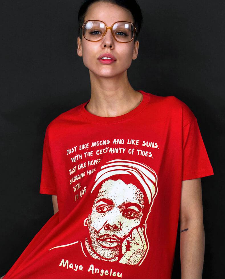 maya angelou t-shirt still i rise