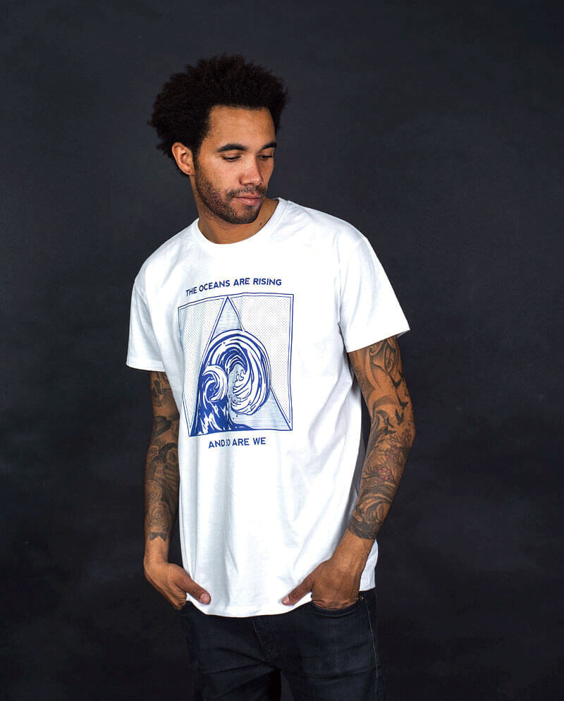Oceans are rising climate change T-shirt