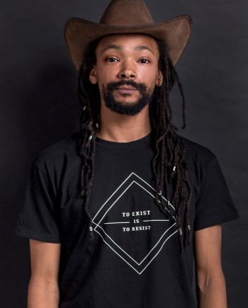 To exist is to resist black political T-shirt