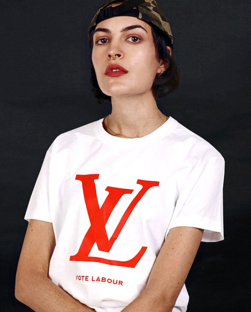 vote labour t-shirt lv logo