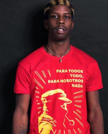 zapatista t-shirt ezln t-shirt red para todos todo