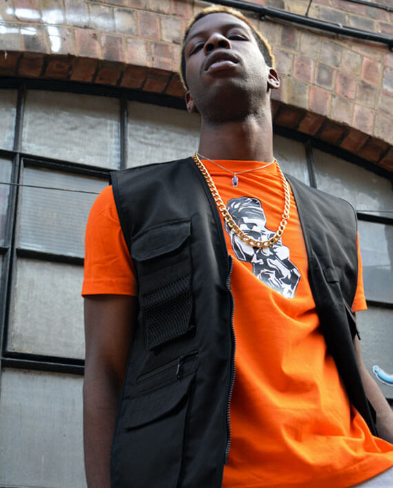 streetwear workwear safari vest waist coat black