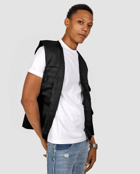 cool workwear vest with pockets streetwear