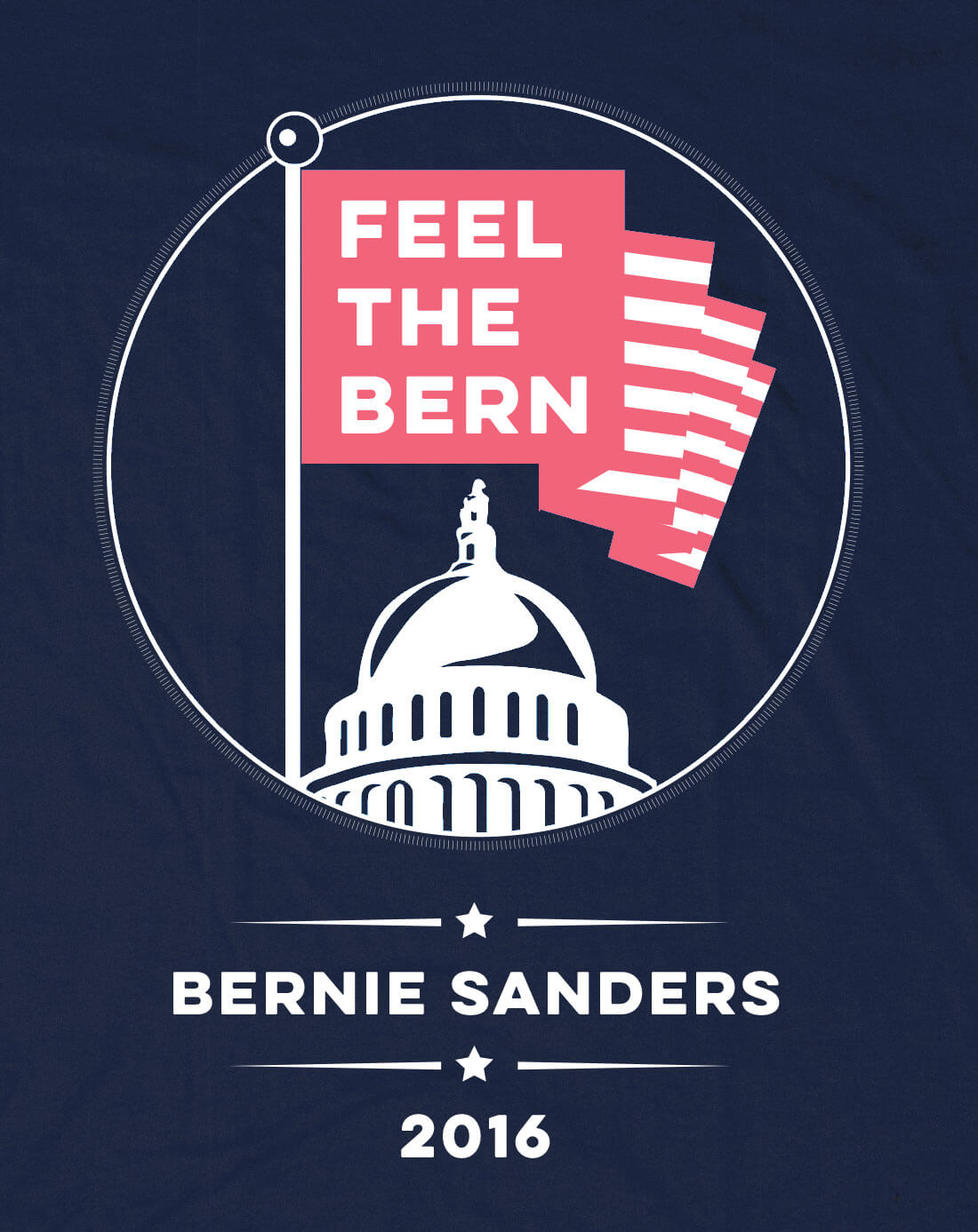 feel the bern bernie sanders-socialist political revolution tshirt