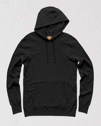 plain black hoodie men women
