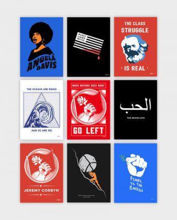 allriot political posters illustrations cartoons