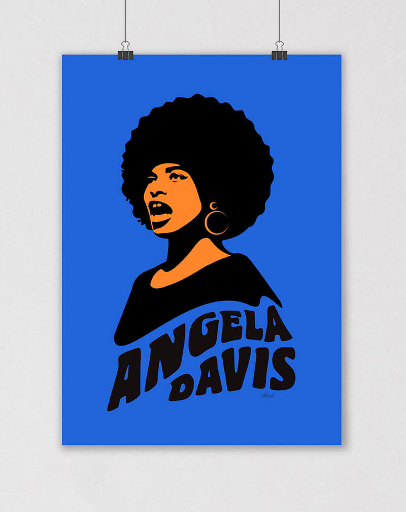 angela davis poster 70s style