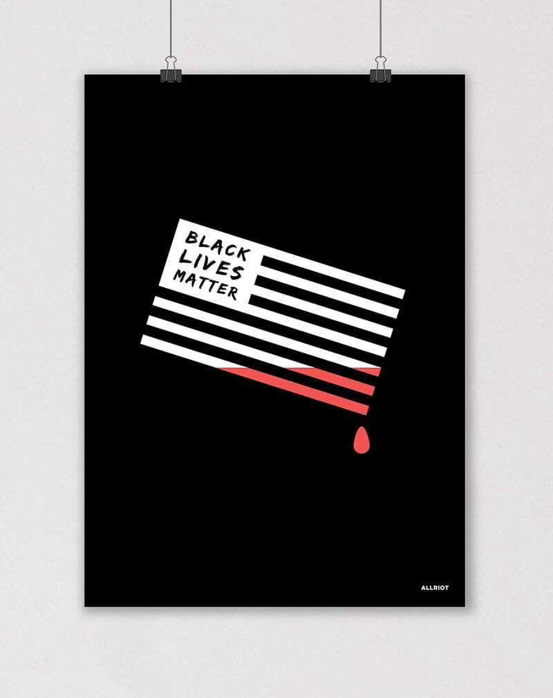 black lives matter blm political poster
