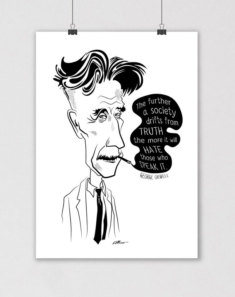 george orwell quote political poster