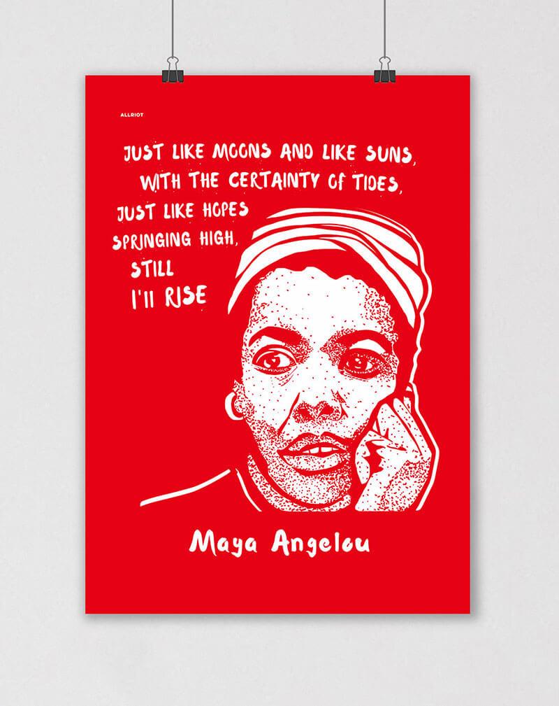 maya angelou poster still i rise
